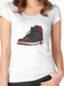 "Air Jordan 1 ""BRED"" Women's Fitted Scoop T-Shirt"