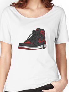 """Air Jordan 1 """"BRED"""" Women's Relaxed Fit T-Shirt"""