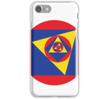 Primary Colors & Shapes Geometric Pattern iPhone Case/Skin