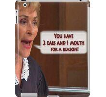 2 Ears & 1 Mouth  iPad Case/Skin
