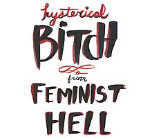 Hysterical Bitch From Feminist Hell Photographic Print
