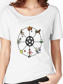 Pagan Wheel of the Year Women's Relaxed Fit T-Shirt