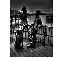Sculptures At Mermaid Quay Cardiff Wales Photographic Print