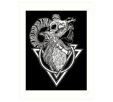 Wolf in Sheep Skull Clothing Art Print