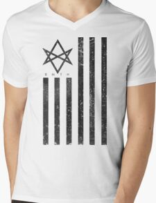 BMTH Flag - Music Band Mens V-Neck T-Shirt
