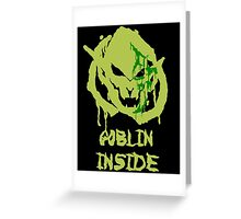 Green Goblins Greeting Card