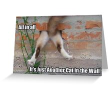 Cat In The Wall Greeting Card