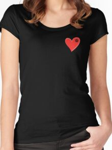 VW Kombi small loveheart/vw logo  Women's Fitted Scoop T-Shirt