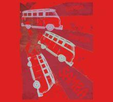 VW SAMBA SAMBA SAMBA Kombi Shirt - Red Baby Tee
