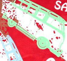 VW SAMBA SAMBA SAMBA Kombi Shirt - Red Sticker
