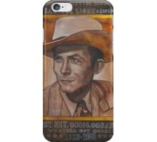 Hank Williams iPhone Case/Skin