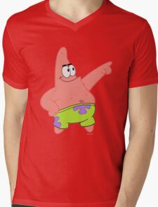 Patrick ready to be winner :) Mens V-Neck T-Shirt