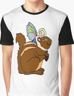 Faerie and Squirrel Graphic T-Shirt