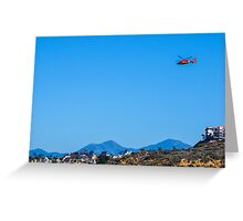 Dolphin over Dana Point Greeting Card
