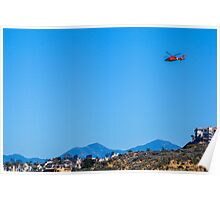 Dolphin over Dana Point Poster