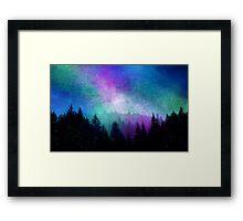 Aurora Borealis Night Sky Framed Print