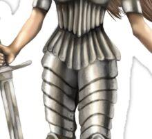 Lady Knight (Colour) Sticker