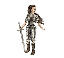 Lady Knight (Colour) Photographic Print