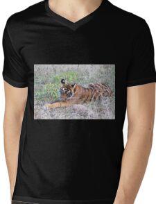 Young Bengal Tiger  Mens V-Neck T-Shirt
