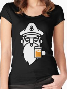 Beard With Beer Women's Fitted Scoop T-Shirt
