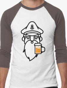 Beard With Beer Men's Baseball ¾ T-Shirt