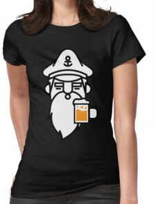 Beard With Beer Womens Fitted T-Shirt