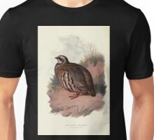 Familiar wild birds Swaysland 1883 V4 101 Red Legged Partridge Unisex T-Shirt