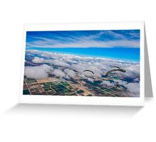 Clouds, Fields and Raiders Greeting Card