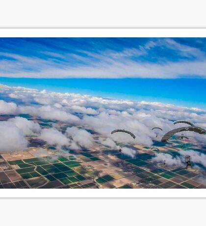 Clouds, Fields and Raiders Sticker