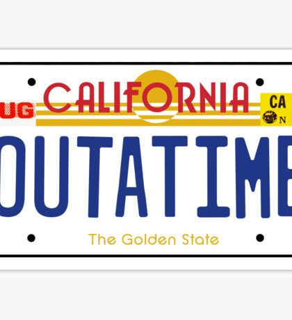 Outatime License Plate Sticker