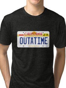 Outatime License Plate Tri-blend T-Shirt