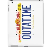 Outatime License Plate iPad Case/Skin