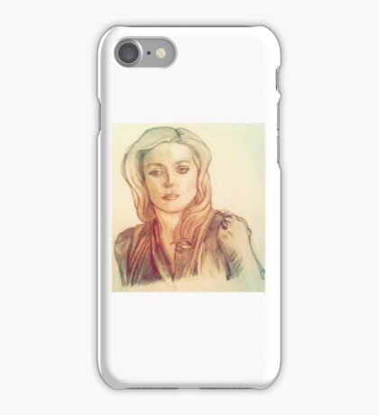 Bedelia du Maurier Traditional Drawing with Filter iPhone Case/Skin