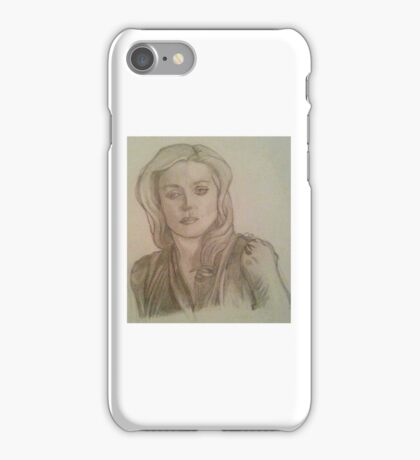 Bedelia du Maurier Traditional Drawing iPhone Case/Skin