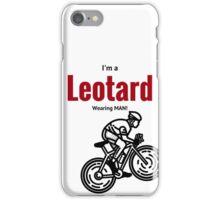 Leotard wearing man: Black & Red iPhone Case/Skin