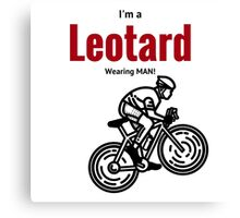 Leotard wearing man: Black & Red Canvas Print