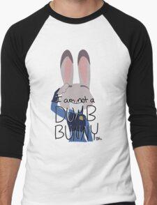 "Judy Hopps ""I Am Not A Dumb Bunny"" Men's Baseball ¾ T-Shirt"
