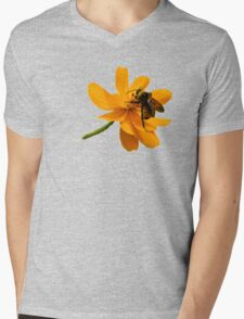Bumble Bee Busy Mens V-Neck T-Shirt
