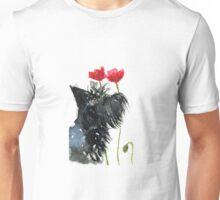 Scottie Dog 'Poppies' Unisex T-Shirt