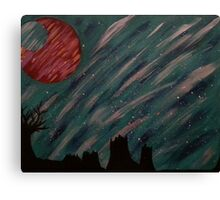 """""""Forest Green Skies"""" Acrylic Painting Canvas Print"""