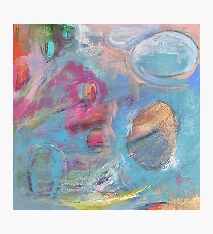 Feminine & Colourful Abstract Painting Photographic Print