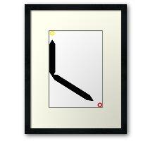 Abstract Clock Design Framed Print