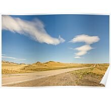 Interesting Clouds In Big Sky Country Poster