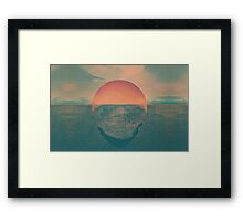 Sun contrast the earth Framed Print