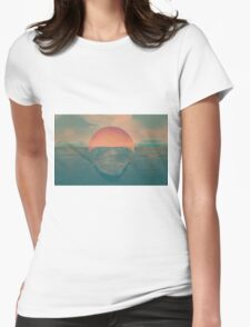 Sun contrast the earth Womens Fitted T-Shirt