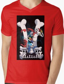 Sans and Papyrus Mens V-Neck T-Shirt