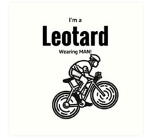 Leotard wearing bike rider Art Print
