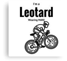 Leotard wearing bike rider Canvas Print