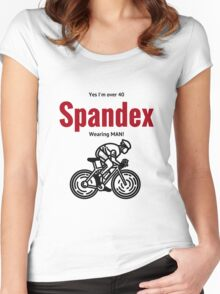 Over 40 yo spandex wearing bike rider Women's Fitted Scoop T-Shirt