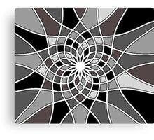 Monochrome Mosaic  Canvas Print